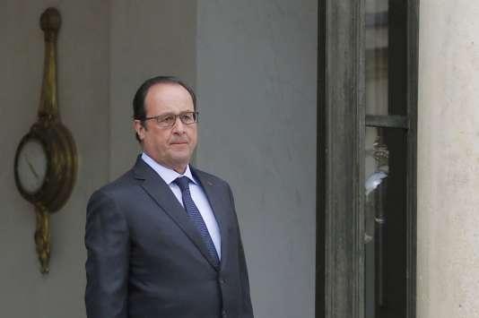 François Hollande, à l'Elysée, le 18 août.