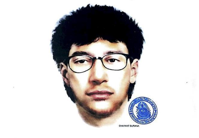 La police a diffusé un portrait-robot du principal suspect de l'attentat de Bangkok .
