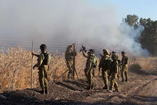 Une roquette lancée jeudi 20 août dans le nord d'Israël, à la frontière avec le Liban.