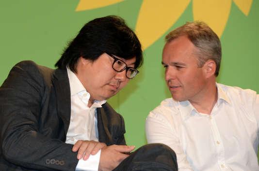 Les parlementaires EELV Jean-Vincent Placé et François de Rugy, tous deux partisans d'un retour des écologistes au gouvernement.