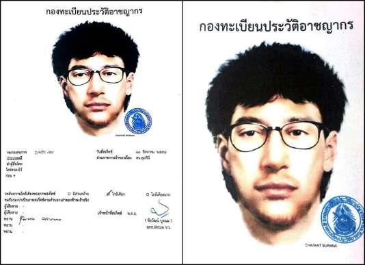 La police thaïlandaise a diffusé, mercredi 19 août, le portrait-robot de l'homme considéré comme le principal suspect de l'attentat perpétré à Bangkok lundi.