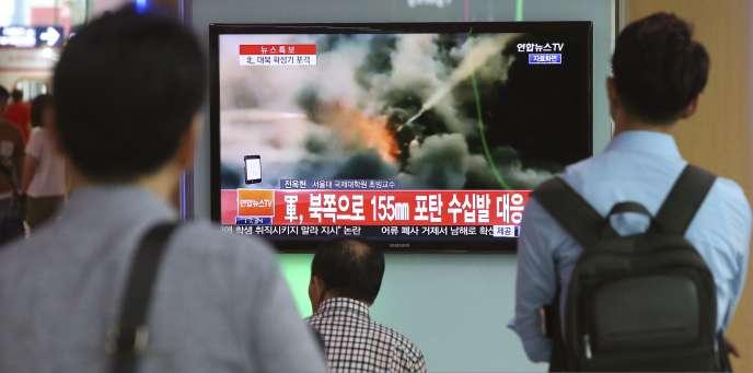 De nombreux tirs ont eu lieu entre les deux pays, jeudi, alors que la Corée du Sud et les Etats-Unis mènent des manœuvres militaires conjointes.