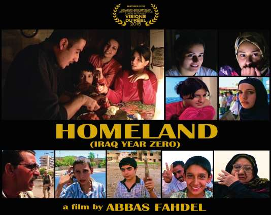 "Visuel du documentaire irakien d'Abbas Fahdel, ""Homeland"" (""Irak année zéro"")."