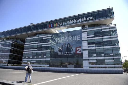 Les bureaux de France Télévisions à Paris, le 23 août 2015.
