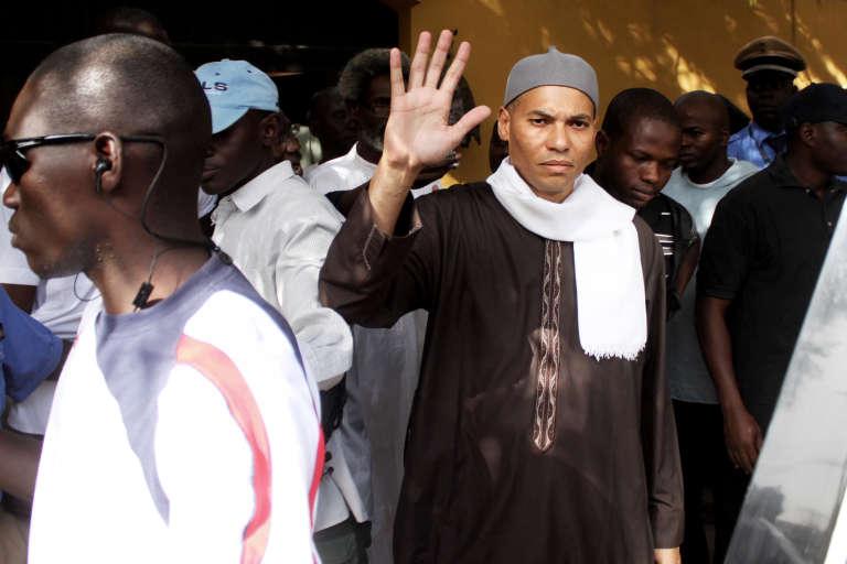 Karim Wade, le fils de l'ancien président Abdoulaye Wade, en avril 2013 à Dakar.