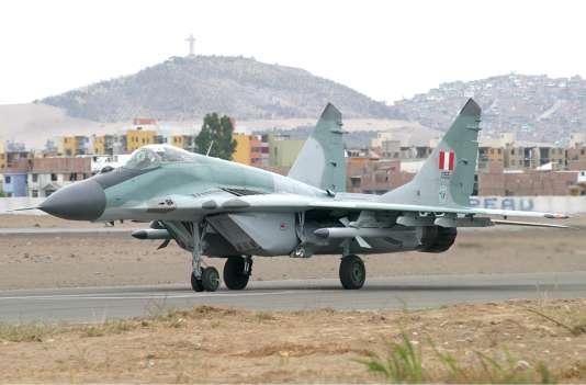 Un MIG-29SE des forces aériennes péruviennes.