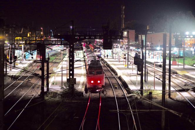Le train Thalys en gare d'Arras, le 21 août.