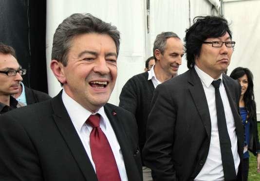 Jean-Luc Mélenchon et Jean-Vincent Placé en 2011.