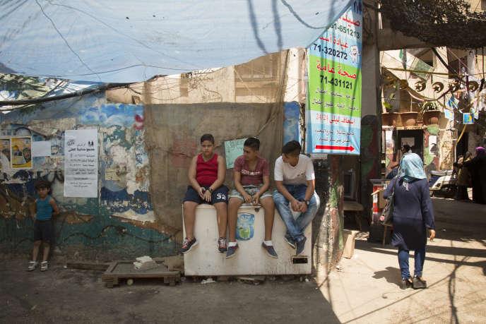 Dans le camp de Chatila, le 13 août.