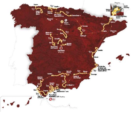 Parcours du Tour d'Espagne 2015