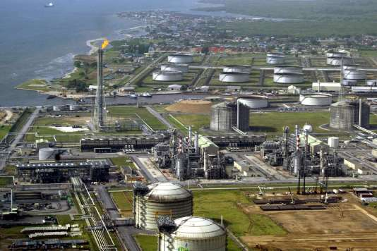 Terminal Shell de Bonny Island, au Nigeria (2005).