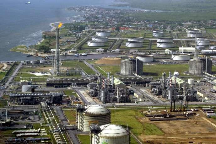 Une raffinerie Shell au Nigeria.