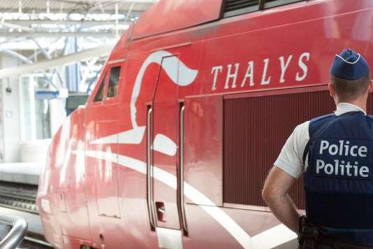 Un Thalys en gare de Bruxelles-Midi.