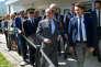 Déplacement de M. Hollande au Châtelard (Savoie) sur le thème de la transition énergétique, jeudi 20 août.