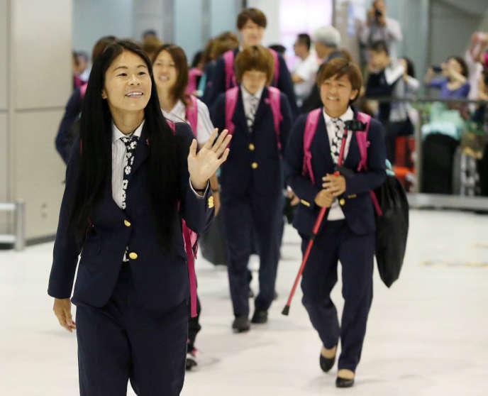 Homare Sawa à l'aéroport de Narita au Japon le 7 juillet 2015.