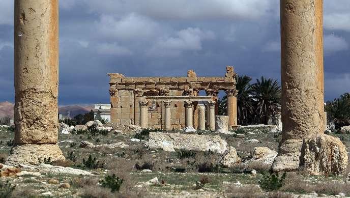 Le temple de Baalshamin, à Palmyre, en mars 2014.