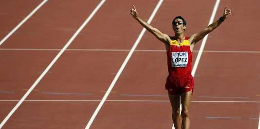 L'Espagnol Miguel Angel Lopez a été sacré champion du monde du 20 km marche.