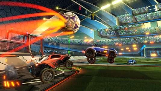 """Des 4x4, un ballon, et des matchs explosifs : c'est la recette miracle de """"Rocket League"""", le jeu le plus téléchargé de l'été sur Steam et PlayStation 4."""