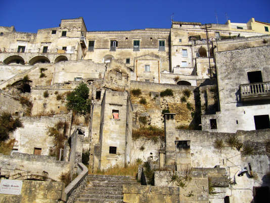 Les Sassi de Matera, maisons troglodytiques classées au patrimoine mondial de l'Unesco.