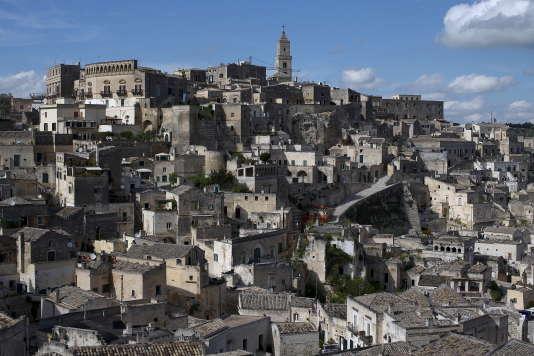 La ville de Matera dans le Sud de l'Italie, en avril 2015.