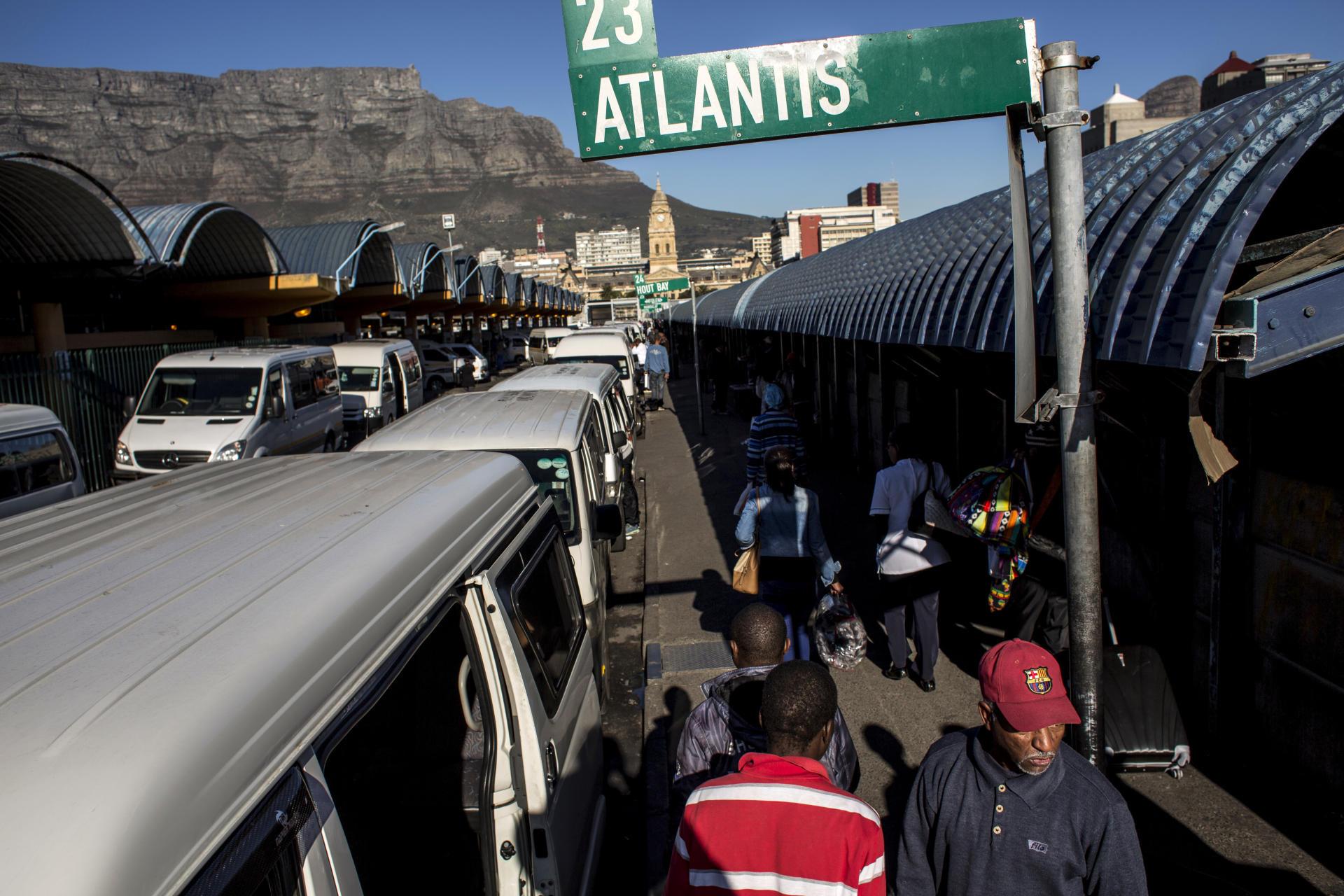 La gare routière dans le centre-ville du Cap.