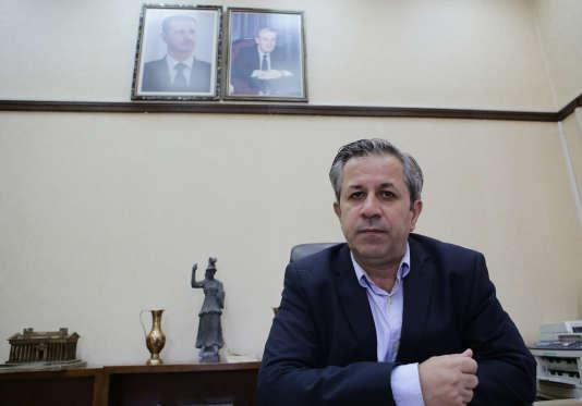 Maamoun Abdulkarim, directeur général des antiquités et des musées de Syrie, à Damas, le 19 août 2015.