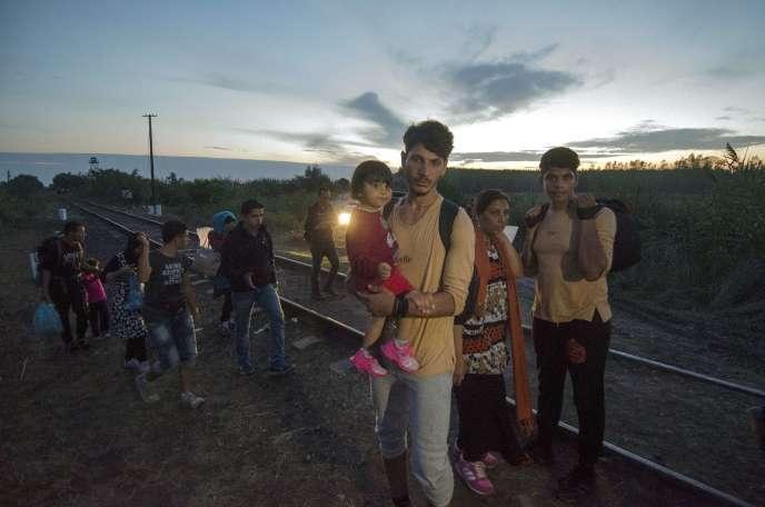 A la frontière serbo-hongroise, le 24 août 2015.