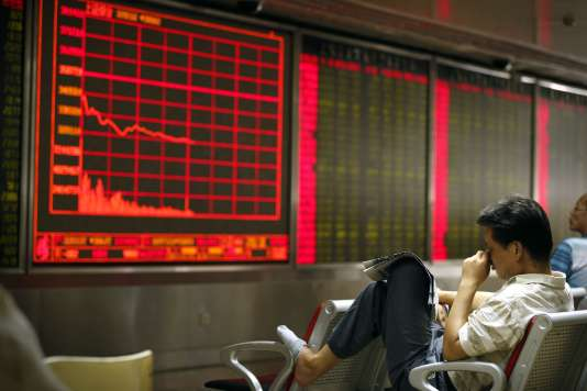 La Bourse de Shanghaï a perdu 8,49 % lundi 24 août.