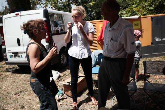Marion Marechal Le Pen lance sa campagne pour les departementales, au Pontet, le 5 juillet.