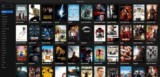 Le logiciel Popcorn Time.