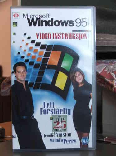 Signe de l'époque : la vidéo officielle de promotion et de présentation de Windows 95 faisait appel aux stars de la série «Friends», gigantesque succès à la télévision américaine et peu après en Europe.