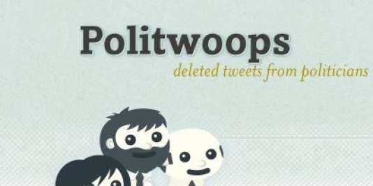 Page d'accueil du site Politwoops.