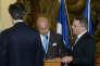 Laurent Fabius, ministre des affaires étrangères, a été victime d'un malaise lors d'une conférence avec son homologue tchèque,  Lubomir Zaoralek, à Prague, dimanche 23 août.