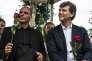 Yanis Varoufakis et Arnaud Montebourg à Frangy-en-Bresse le 23 août 2015.