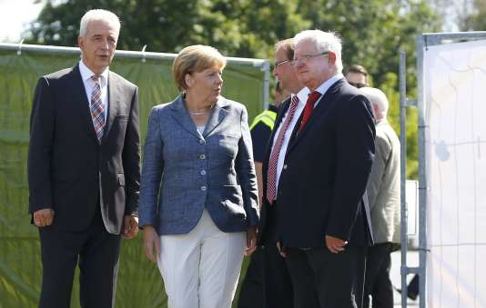 Angela Merkel à Heidenau, le 26 août.