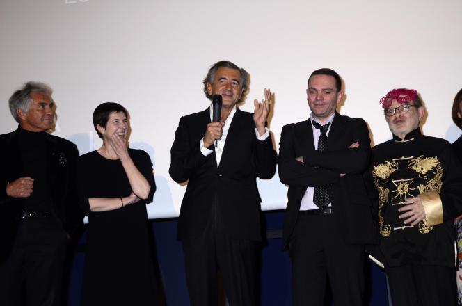 Bernard-Henri Lévy et Yann Moix lors de la remise du prix Saint-Germain-des-Prés 2012, organisé par la revue« La Règle du jeu».