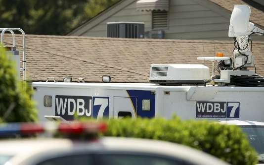 Sur les lieux de la fusillade à Moneta, en Virginie, mercredi 26 août.
