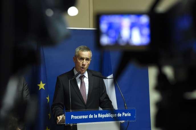 François Molins, procureur de la république de Paris, lors de sa conférence de presse le 25 août, à Paris.