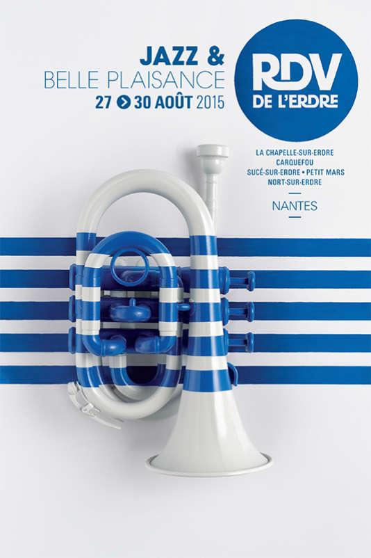 Affiche du festival Les Rendez-vous de l'Erdre, jazz et belle plaisance, jusqu'au 30 août.