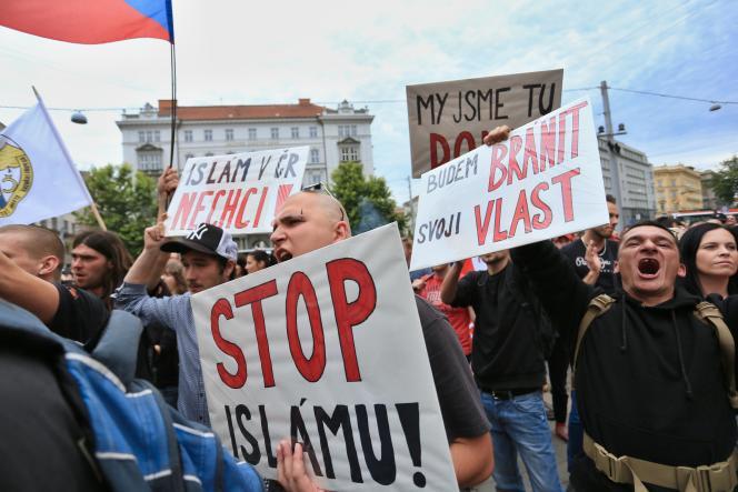 Manifestation anti-migrants à Brno en République Tchèque le 26 juin 2015.