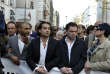 Yann Moix, le 25 mars 2012, lors d'une manifestationcontre l'antisémitisme.