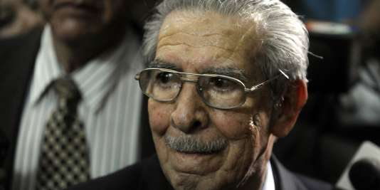 L'ancien dictateur du Guatemala Efrain Rios Montt, en mai 2013.