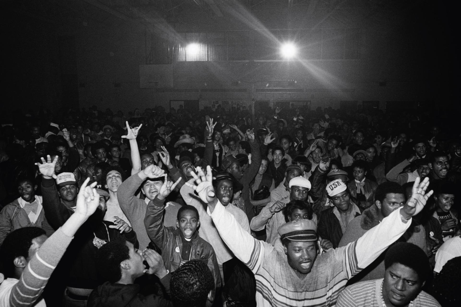 Le public du Bronx River Art Center, lieu new-yorkais créé dans les années 1970 pour permettre l'accès à la culture  des populations défavorisées.