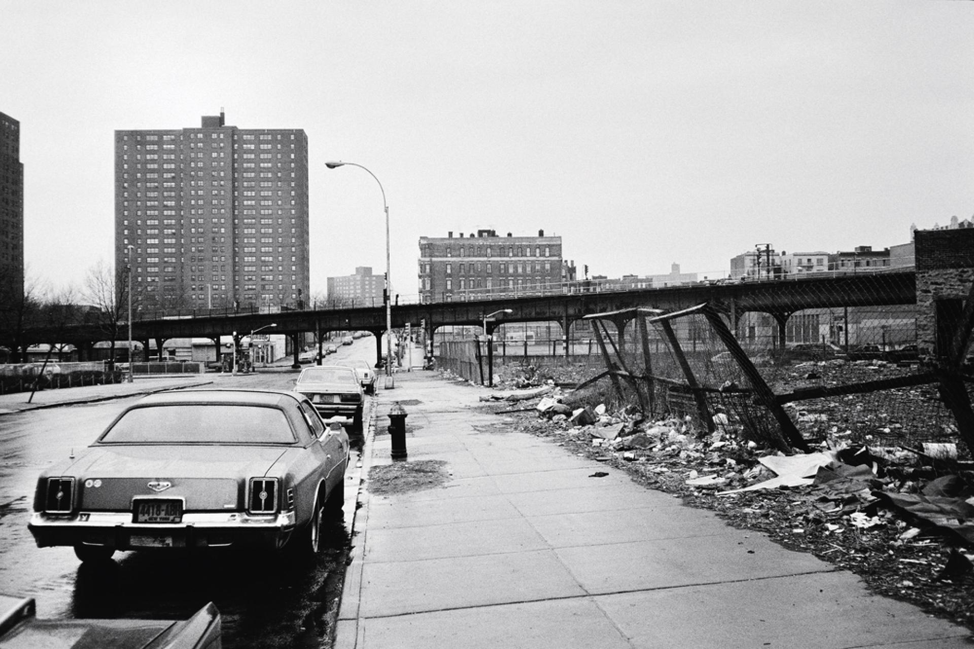 Une rue du Bronx, à New York, berceau du hip-hop.