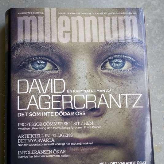 """La couverture en suédois du tome 4 de """"Millénium"""" signé David Lagercrantz qui sort jeudi 27 août."""