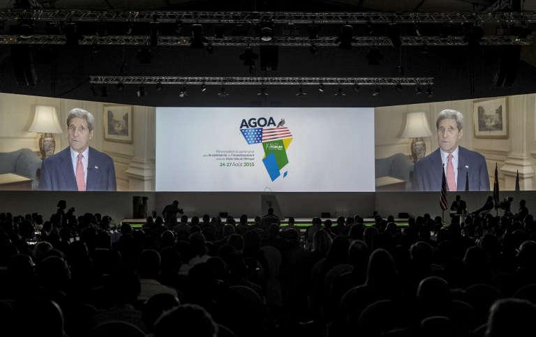 Lors du 14e forum de l'AGOA à Libreville (Gabon) le 26 août 2015.