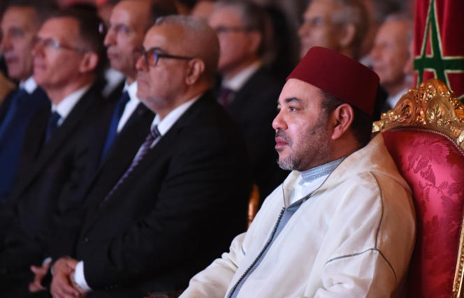 Le roi du Maroc, Mohammed VI, au palais royal de Rabat le 19 juin.