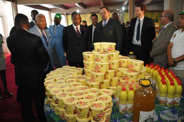Denis Sassou-Nguesso, président du Congo, lors de l'ouverture de l'usine Eco Oil Energy, en août 2015.