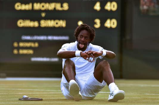 Gael Monfils à Wimbledon le 4 juillet.