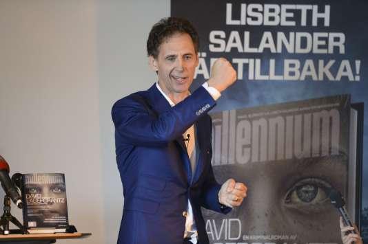 L'auteur du quatrième tome de Millénium David Lagercrantz lors d'une conférence de presse à Stockholm mercredi 26 août.
